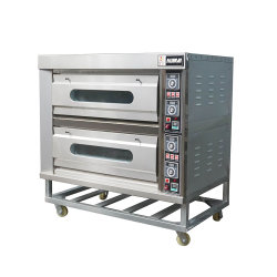 Los equipos de panadería 2 Double Deck / Capas de acero inoxidable la Pizza Pan /horno de convección