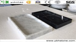 Plateaux en marbre noir poli pour salle de bains Accessoires