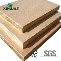 Fornecedor directo China Spruce Core a melamina diante da Placa do Bloco de mobiliário em madeira maciça