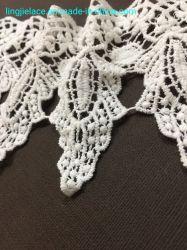 El algodón bordado de encaje de productos químicos para la ropa de dama de fresado de encaje