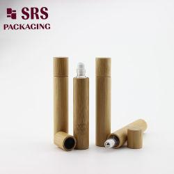 재고 향수 나무로 되는 롤러 콘테이너 대나무 정유 유리병