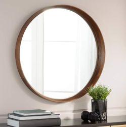 Монтаж на стене декоративного D=600 мм маленький круглый золотой металлические зеркала заднего вида в рамке