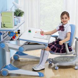 As crianças Home Desk Metal Mobiliário inoxidável cromado cadeira de mesa Definir Altura Ajustável de mobiliário de aprendizado em sala de aula da escola