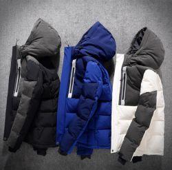 De façon personnalisée manteau d'hiver hommes meilleurs Oversized Noir/Blanc/Bleu/Gris/Windproof imperméable/coupe-vent Puffer Duck Down Jacket avec capot