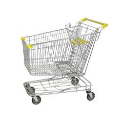 Hoge kwaliteit Metaalwinkel Retail Store Aziatische supermarkt Shopping Trolley