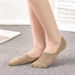 Meias de tornozelo invisível Primavera e Verão meias de mulheres de cor sólida de boca rasas selvagem de Moda Feminina meias chinelos invisível