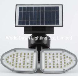 Hot Sale facile à installer haute puissance étanche IP65 de plein air une aire de jeux d'urgence mur 10W 20W Lumière LED solaire wall lamp