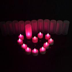 [لينلي] مجموعة من 12 [لد] [رشرجبل] شاش ضوء جهاز تحكّم عن بعد - يضبط [تليغت] عديم لهب شمعة ضوء مع حامل يحمّل
