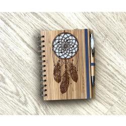 Notebook de bambu Design Windbell Livro de exercícios personalizados Memo Pad Personalizado