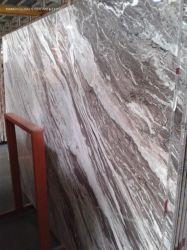 Acabado de cuero/Pulido/pulidas losas de mármol natural/Cortada de seda púrpura azulejo de revestimiento de paredes interiores y decoración de habitación/cocina/baño Top