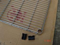 Revestimiento en polvo de la moda del panel posterior de malla de alambre estantes de supermercados