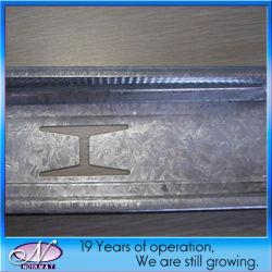 Canal principal em aço inoxidável de metal para sistema de parede ou tecto