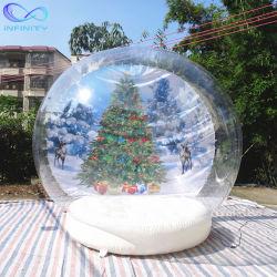 Almofada insuflável ao ar livre no pátio de bola de neve Globo globo dome tenda Natal insufláveis Inflatables Publicidade Globo de neve para a parte