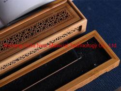 Patrón exquisitos personalizado Mini caja de madera de quemador de incienso Quemador de incienso, Quemador de incienso de tubo de papel de bambú Set de regalo