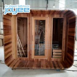 Baracca asciutta di sauna del ricorso di Joyee della villa di sauna della stanza dell'acquazzone di legno di legno esterno del vapore per il commercio all'ingrosso