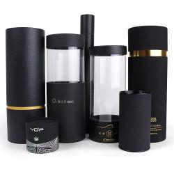 Le design de mode cylindre noir boîte cadeau boîtes d'emballage en carton parfum Tube en papier