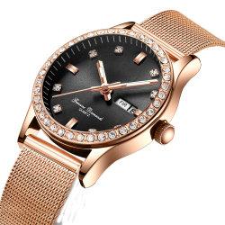 Banheira de vender mais nova banda de malha de moda elegante relógio de quartzo pedras enfrentar Senhoras Relógios de pulso