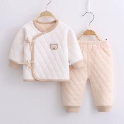 El recién nacido demanda Three-Layer caliente caliente traje de monje con puntilla 0-3 meses bebé bebés ropa interior de algodón puro palo