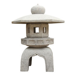 Pedra de japoneses Lantern Kodai Yukimi no exterior de decoração de jardim