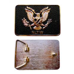 Hohe Form-Entwurf Ihr eigenes kundenspezifisches Goldsilber sterben Firmenzeichen-Metallmann-Gürtelschnallen der Form-3D (belt-46)