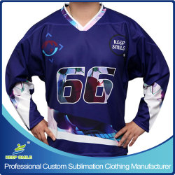 Sublimation su ordinazione Printing Ice Hockey Shirts per Ice Hockey Sports