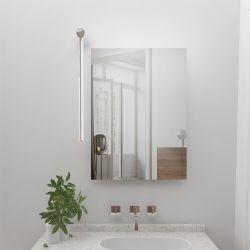 Girar 360 grados de aluminio 40cm 640lm 8W de IP44 imagen espejo de pared de fábrica de las luces LED frontal