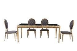 Современная домашняя мебель из нержавеющей стали и рамы 12мм закаленное стекло сверху обеденный стол,