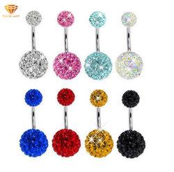 Piercing bijoux Vente chaude avec Diamond Ball anneau ombilical Anti-Allergic Belly Button piercing nombril Mode bijoux Anneau ssp0891