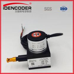 Sacar el cable tirar del cable del sensor de la cadena de codificador de cilindro hidráulico