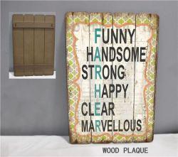 Les panneaux en bois Drôle de Noël rustique planche en bois pour montage mural