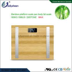 Het hete Lichaamsvet van de Verkoop Met de Zuivere Natuurlijke Pan van de Schaal van het Bamboe en het Grote LCD Scherm van de Vertoning, de Maximum Knopen 180kg van de Aanraking, Ce van het Geheugen van 10 Gebruikers. RoHS.