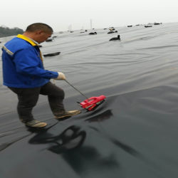 100% de material virgen Geomembrana HDPE para la acuicultura, vertederos, Peces Pond Liner
