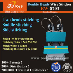مجلة دورية الأدب مجلة Electrc Double Heads Flat Saddle Stitch ربط السلك المعدني