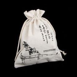 Coulisse de linge en coton biologique Housse Housse Sac pour le parti favorise le commerce de gros