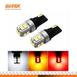 Ошибок шины CAN T10 W5w LED светодиод для поверхностного монтажа авто автомобилей 10 для фонаря освещения номерного знака, стояночный фонарь, плафон освещения салона