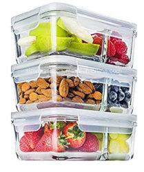 Alti contenitori di memoria di vetro dell'alimento o della frutta di Borocilicate