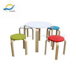 Детский сад деревянный обеденный стол со стульями объединения в стек