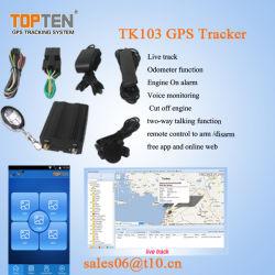 GSM Tracker GPS de coche con mando a distancia, el verdadero seguimiento de Tim, APP (TK103-Kw).