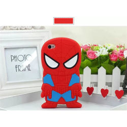 Hot Selling 3D Spiderman Silicon telefoonhoes/etui voor iPhone 4G/5g/6g
