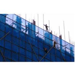 、緑、100%年バージンのHDPEの構築の建物の安全バリアのネット青い、足場(足場)ネット、残骸のネット、PEのシェーディング(陰)のネットの
