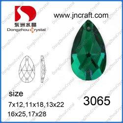 크리스털 눈물 방울 봉제 석재 의류 단추 비드(DZ-3065)