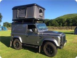 Voiture Conton SUV DIY coque rigide en fibre de verre toile toit tente avec Awing