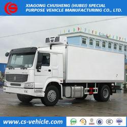 Sinotruck populares HOWO 4X2 refrigerados Sala Fria Van Caminhões Preço de 5 toneladas