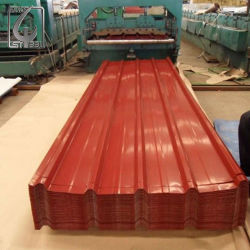 Цвет с покрытием из гофрированного картона Prepainted кровельных листов оформление PPGI железной крышей