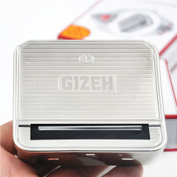 Gizeh manuel en acier inoxydable Cigarette Machine Machine / Case