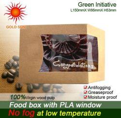 Verpacken- der Lebensmittelpapierkasten-Kartone mit dunsthemmendem Fenster