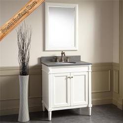 Деревянные напольные туалетный столик в ванной комнате