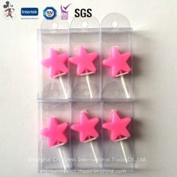 Schönes Pink Color Star Shaped Candle für Decoration