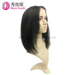 2018 nouveau style de la Dentelle Perruques vierge 100 % perruque de cheveux humains indiens de la dentelle Dentelle pleine/Avant Perruques noués à la main droite perruque Bobo
