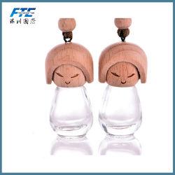Muñeca de chorro Ambientador de coche de forma de botella de perfume de coche Accesorios de coche